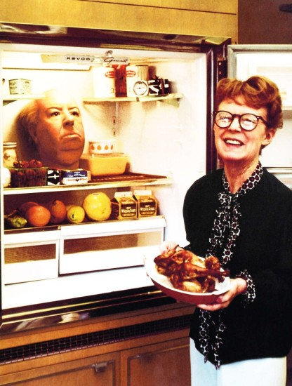 Alma-Hitchcock-with-Alfreds-Wax-Head-in-the-Fridge